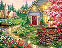 Serenity Lane (Large Piece) 1000 Piece Jigsaw Puzzle by SunsOut - chapel theme