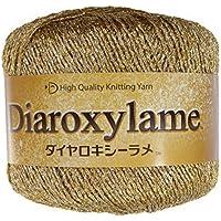 ダイヤモンド毛糸 ダイヤロキシーラメ 毛糸 並太 col.6902 ゴールド 系 25g 約112m
