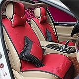 (ファーストクラス)FirstClass エアバッグホールあり ビスコース フルセット フロント リア シートクッション 車シートカバー レッド 汎用 A4 フィアット ベンツ マキシマ 10pcs