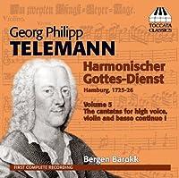 Harmonischer Gottes-Dienst / Six Cantatas 5 by GEORG PHILIPP TELEMANN (2013-04-30)