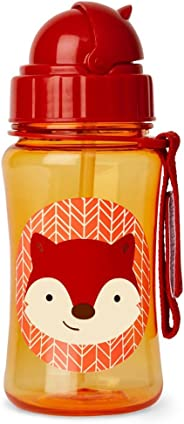 Skip Hop SH252338 Zoo Straw Bottle, New Fox, Multi Colour