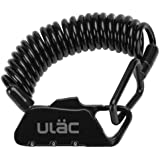ULAC 自転車 ロック 鍵 ワイヤーロック ロードバイク ベビーカー バイク サドルロック 軽量 携帯便利 盗難防止 四つ色