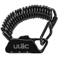 ULAC 自転車 鍵 ワイヤーロック ダイヤル チェーンロック ベビーカー バイク サドルロック 軽量 携帯便利 盗難防…