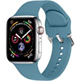 TheaPro Strap Band Compatible with Apple Watch 42 44mm,Soft Silicone Sport Bands Replacement Wristband for iWatch Series SE/7
