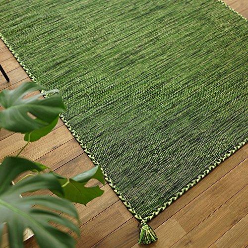 RoomClip商品情報 - キリム調 ラグ カーペット ハンドメイド キーマ ( 130x190 cm グリーン )