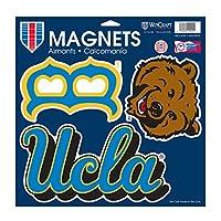 NCAA UCLA Bruins車/ファンマグネット、Large / 11x 11インチ、ホワイト