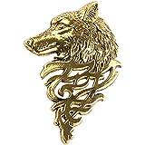 SONONIA ヴィンテージ オオカミ ブローチピン バッジ ラペルピン シャツ/スーツ 男性のジュエリー アンティークゴールド