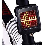 USB Rechargeable Bike Tail Light, Smart Bicycle Turn Signal Lights with 80 Lumens 64 LED Light Beads, Portable Brake Light Wa