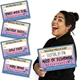 Bigドットの幸せのbachella – Palm Springs Boho Bachelorette Party Mug Shots – 写真ブース小道具Mugshot Signs – 20カウント