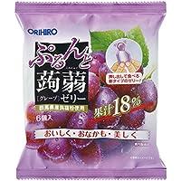 オリヒロ ぷるんと蒟蒻ゼリー グレープ (20g×6個)×6袋