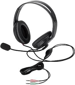 【2014年モデル】エレコム ヘッドセット マイク 両耳 オーバーヘッド クッションイヤーパッド 1.8m HS-HP24BK