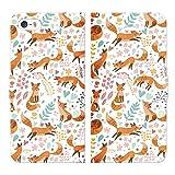 iPhoneSE iPhone5S iPhone5 手帳型 ケース カバー アニマル柄 mod11 アニマル イヌ ウサギ キツネ クマ ゾウ ネコ パンダ ペガサス 動物 動物柄 恐竜 犬 猫