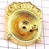 限定 レア ピンバッジ クラリオン音楽スピーカー金色カー用品 ピンズ フランス