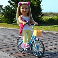 Doll Bicycle - Bicycle with Streamers and Basket for 18 inch Dolls [Floral] [並行輸入品]
