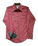 ロックマウント gingham check Western Shirt with contrasting parts RM-615-C (S, RED)