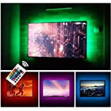 "USB TV Backlight LED Bias Lighting Kit For 24"" to 60 Inch Smart TV Monitor HDTV Wall Mount Stand Work Space - TV Background A"