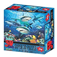 3Dジグソーパズル サンゴ礁のサメ 150ピース