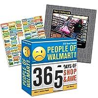 People of Walmart 2019 箱入りカレンダー バンドル - 365ページ 2019 ウォールマートの人々 毎日のデスクカレンダー 100枚以上のカレンダーステッカー付き (ウォールマートギフト オフィス用品)