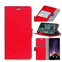 Nokia 8 レザーケース、MrStar 人気 軽量 薄型 カードポケット付き 財布型Nokia 8 ケース(Red)