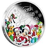 ディズニー ミッキー クリスマス銀貨2016 ニウエ