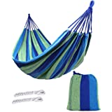 ValueHall Outdoor Soft Cotton Fabric Brazilian Hammock Double Wide 2 Person Travel Camping Hammock V7010-1