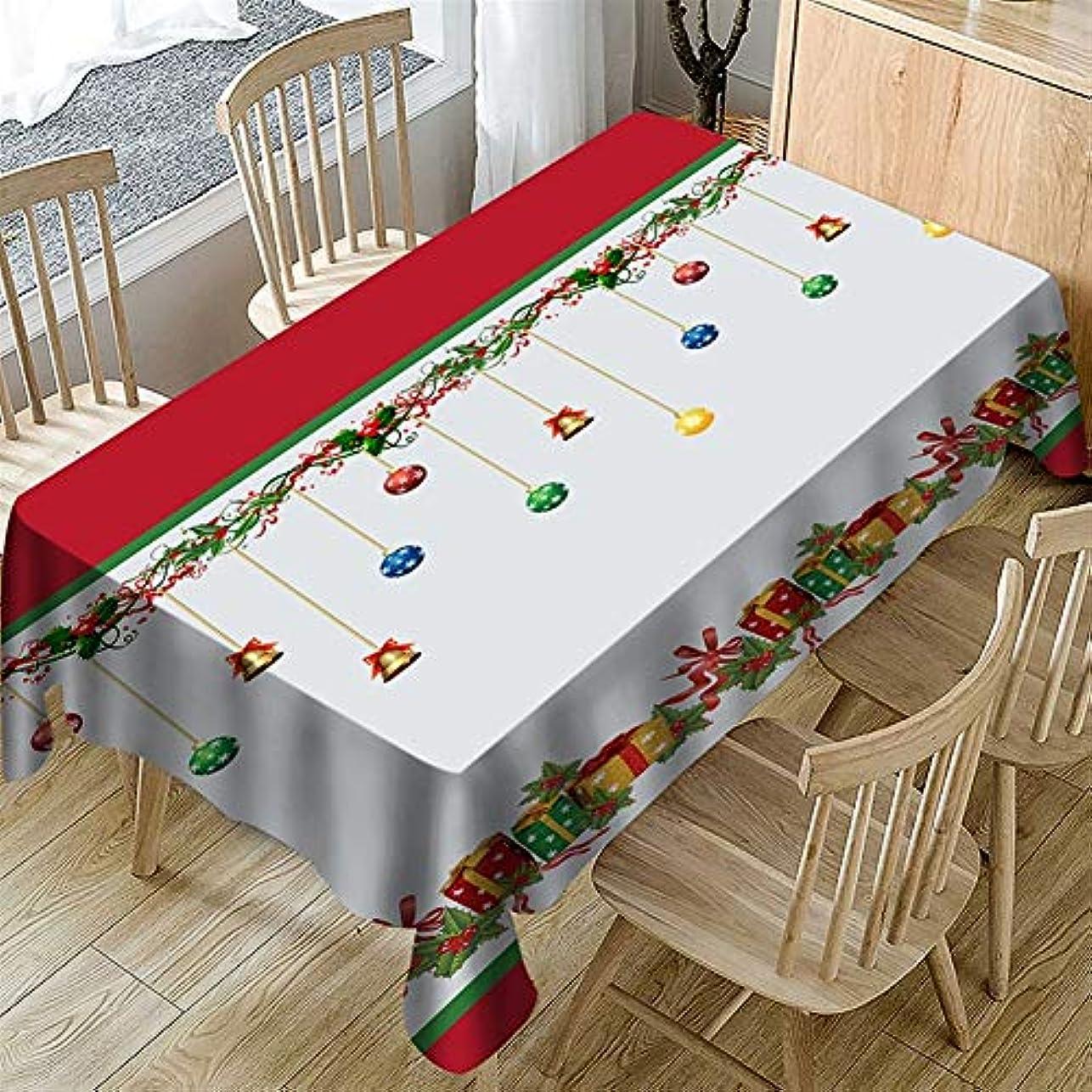 確率賛辞急行する撥水 テーブルクロス クリスマスシリーズクリスマスベルパターン 洗える (Color : 15, Size : 140*140cm)