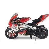 SYX MOTO Apex プルスタート 49cc 2ストローク ガス駆動 キッズ ミニポケットバイク オフロードロケットバイク ブラック