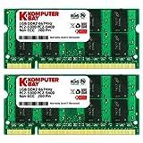 Komputerbay 日本進出記念 メモリ 2枚組 DDR2 667MHz PC2-5300 1GBX2  DUAL 200pin SODIMM ノート パソコン用 増設メモリ 1GB デュアル