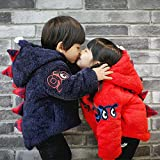 Veroman ベイビー 恐竜 ジャケット アウター コート 子供服 (80cm, ブルー)
