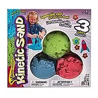 【 Kinetic Sand キネティックサンド  】 室内用お砂遊び 砂 3色 赤 青 緑 並行輸入品