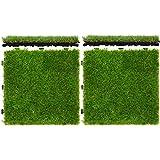 ottostyle.jp ジョイント式人工芝 30cm×30cm 4枚セット 【水やり・肥料・草取り不要】 本物の芝生のようなリアルな見た目と質感!