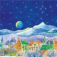 Hanhantang 手描き漫画月光風景リビングルーム寝室子供部屋幼稚園カスタム背景壁シームレスな壁カバー-250X175Cm