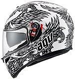 AGV STREET ROAD フルフェースヘルメット K-3 SV MULTI ピンロック付, カラー :THYRUS パールホワイト ブラック, サイズ:L (59-60 cm)