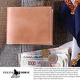 (フライングホース) FLYING HORSE ナチュラルコードバン二つ折り財布 ナチュラル 00001301 メンズ box型小銭入れ 本革 宮内レザー