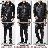 adidas(アディダス) ESS 3S コーティング ジャケット パンツ 上下セット 【メンズ】 (BIM52/BIM59) (L, ブラック×Mゴールド(AP3967/70))