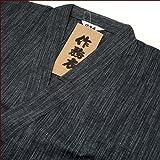 綿100%しじら織縦絣(たてかすり)作務衣【特価】