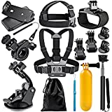 Neewer 12-in-1 Action Camera Accessory Kit for GoPro Hero Session/5 Hero 1 2 3 3+ 4 5 6 7 SJ4000 5000 6000 DBPOWER AKASO VicTsing APEMAN WiMiUS Rollei QUMOX Lightdow Campark and Sony Sports DV and More