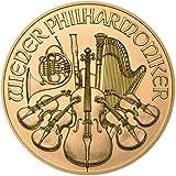 1.244gの純金 オーストリア ウィーン フィルハーモニー 24K 99.99%の純金製 1/25オンス 金貨 ゴールド 1.244グラム コイン 純金 高級アクリルカプセル ケース付き