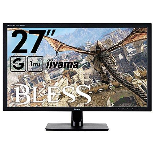 iiyama ゲーミング モニター ディスプレイ GE2788HS-B2 (27インチ/1ms/フルHD/TN/HDMI,D-sub,DVI-D) 【BLESS推奨モデル】
