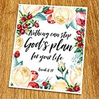Isaiah 14:27 Nothing can stop God's plan Print (Unframed) Scripture Wall Art Bible Quote Print Church wall decor Wisdom Word Religious Quote 8x10 TC-081 [並行輸入品]