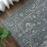 豪華 高密度 ウィルトン織 ラグ カーペット 絨毯 ノーブルスタイルⅡ 80x150cm ライトブルー 1畳 ペルシャ柄 ベルギー製