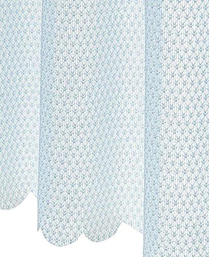 セシール cecile カーテン UVカット防炎ミラーカフェカーテン ペールブルー 60*90 CP-343CP-343