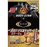 おやつカンパニー BODYSTAR プロテインスナックステーキ味 49g ×12袋