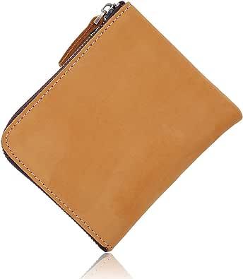 Dyrenson 財布 メンズ ショートウォレット 本革 L字ファスナー レザー 小銭入れ カード収納 コンパクト 薄型 人気