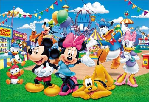 [해외]40 조각 어린이 퍼즐 디즈니 즐거운 유원지/40 Pieces Children`s Puzzle Disney Fun Fun Postcards