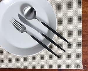 クチポール(Cutipol) GOA/ゴア ブラック ディナー3点セット (ナイフ・フォーク・スプーン)