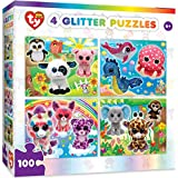 MasterPieces TY Beanie Boo - 4-Pack 100pc Glitter Puzzles