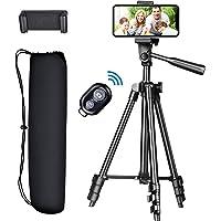 スマホ三脚 カメラ 三脚 自撮り三脚 スタンド 携帯 三脚 iPhone/Android多機種に対応 モコン付き4段階伸…