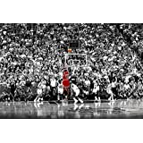 Michael Jordan Chicago Bulls Last Shot 1998 (Basketball) Sports Poster Print (24in x 36in)