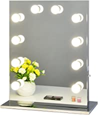 Chende 女優化粧鏡 ハリウッドスタイル 大型 LEDライト付き 無段階調光 ドレッサー (全鏡面)